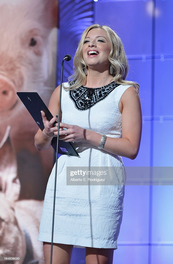 TV news producer Megan Chuchmach attends the 2013 Genesis Awards Benefit Gala at The Beverly Hilton Hotel on March 23, 2013 in Beverly Hills, California.