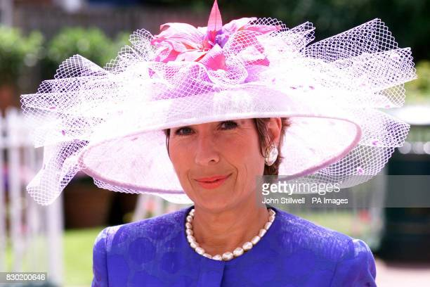 BBC news reader Jennie Bond in a Marie Louise hat at Ascot on the second day of the annual race meeting The meeting is one of the highlights of the...