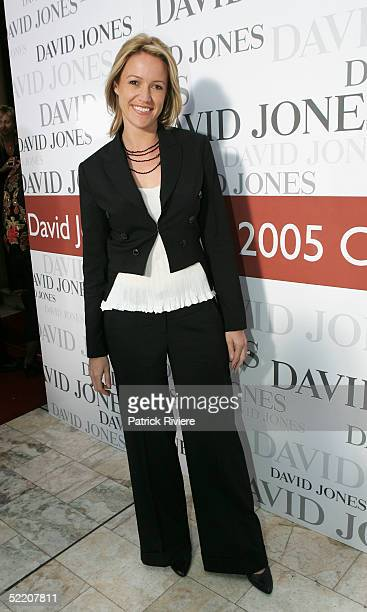 TV news reader Leila McKinnon attends the David Jones Winter Collection Launch at the Town Hall February 16 2005 in Sydney Australia