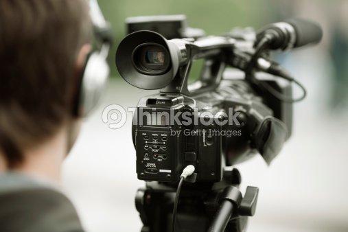 news shooting : Stock Photo