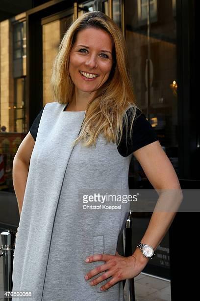 News speaker Miriam Lange of RTL poses during the Iris von Arnim store opening on June 10 2015 in Duesseldorf Germany