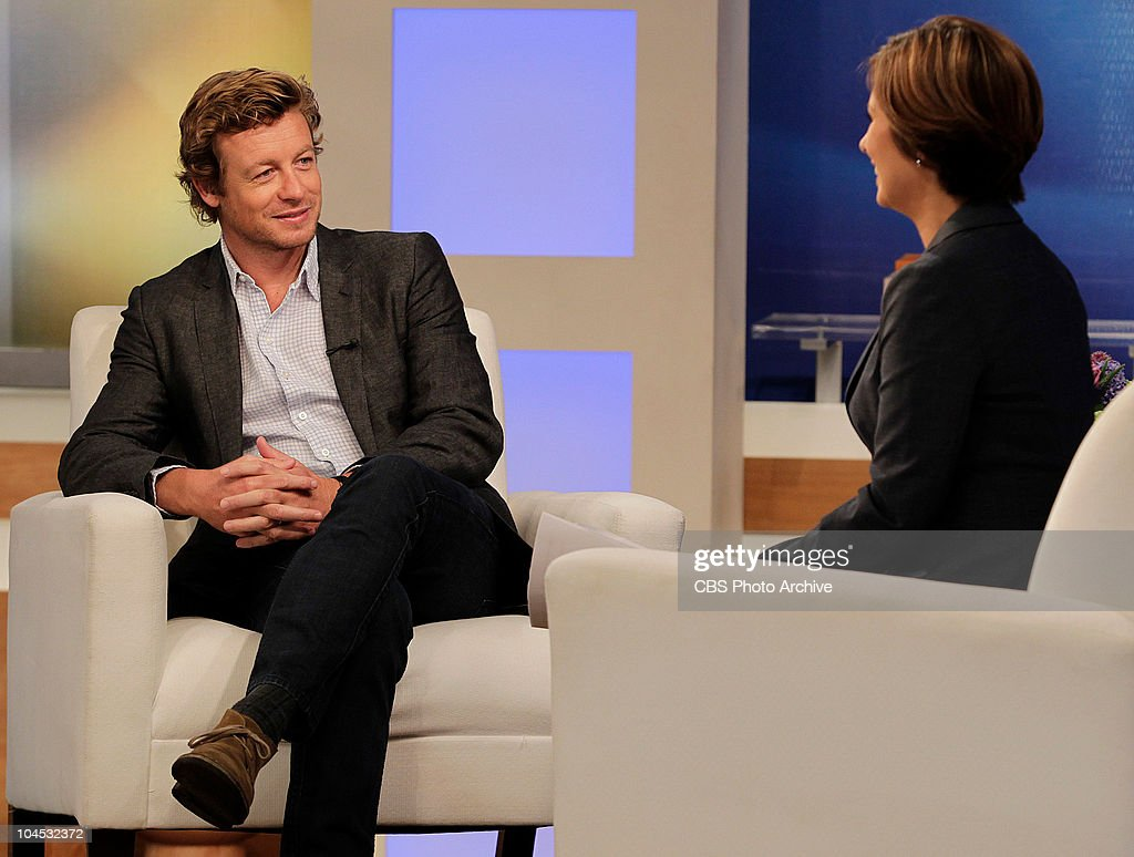 the early show pictures getty images cbs news the early show co anchor maggie rodriguez interviews the mentalist star simon