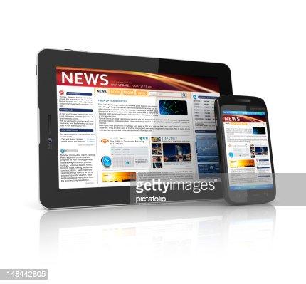 news webpage : Bildbanksbilder
