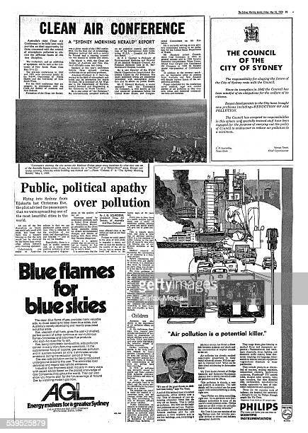 Newspaper article 'Clean Air Conference' page 11