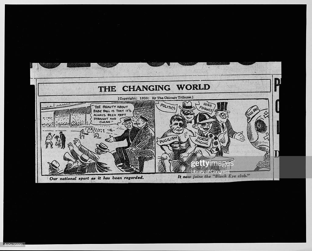 cartoon on the black sox scandal pictures getty images a newspaper cartoon from the chicago tribune lamenting the state of baseball upon revelation that