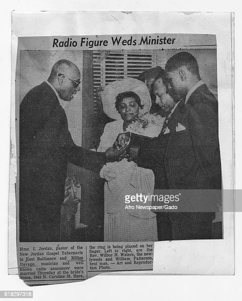 Newspaper clipping from the Afro American Newspaper with story regarding the Reverend Wilbur H Waters a prominent Baltimore citizen and civil rights...