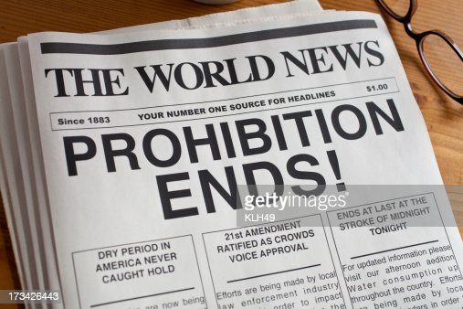 Prohibition Ends.