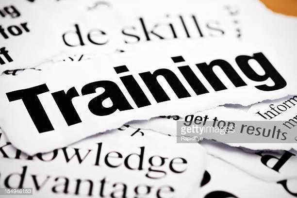 Newspaper headlines about training, knowledge and business skills
