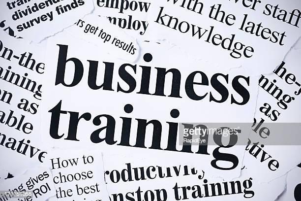 Titres associés d'affaires Journal d'entraînement