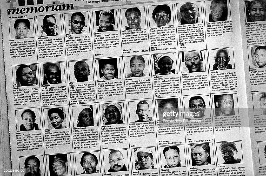Newspaper obituaries Sowetan newspaper of South Africa