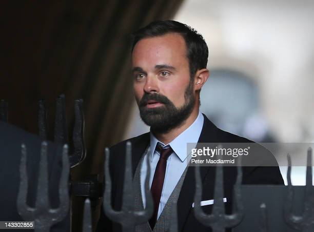 Newspaper owner Evgeny Lebedev arrives at the High Court to give evidence to The Leveson Inquiry on April 23 2012 in London England This phase of the...