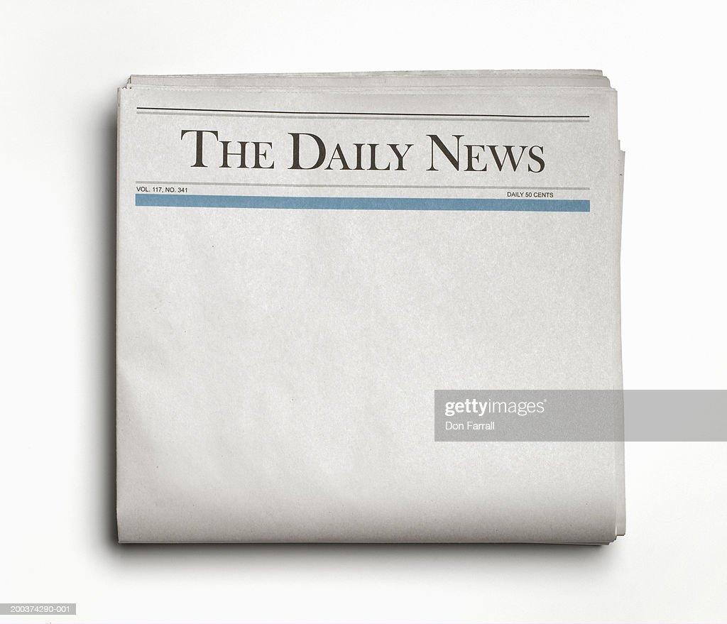 Newspaper : Stock Photo