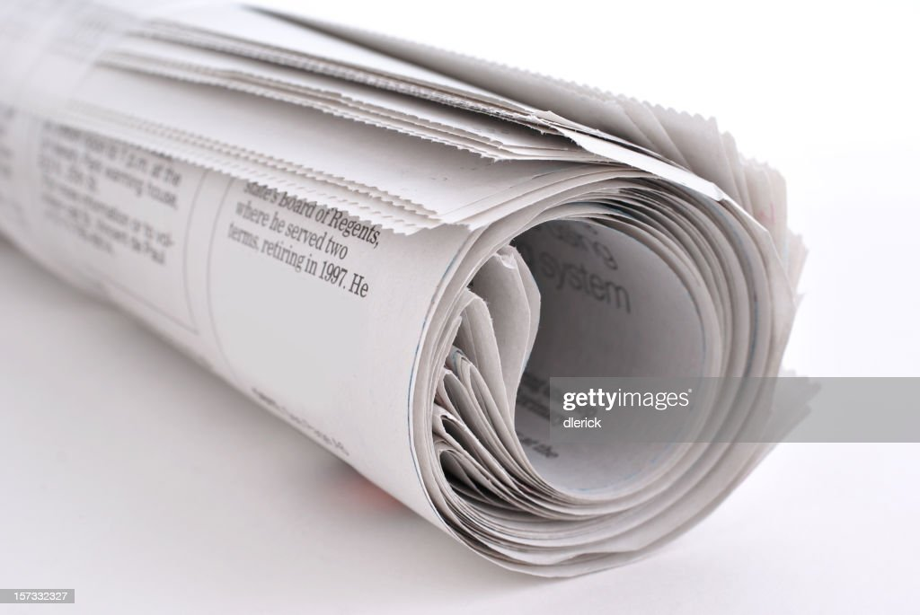 newspaper rolled : Stock Photo