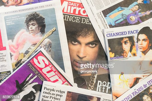 Newspaper tributes to Prince following his passing