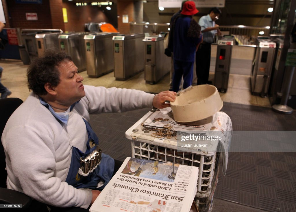 Newspaper vendor Rick Gaub checks his change bowl as he waits for customers at his stand in an underground rail station October 26, 2009 in San Francisco, California. A report by the Audit Bureau of Circulations reveals that the average daily circulation of U.S. newspapers fell 10.6 percent in the six month period between April-September compared to one year ago. The San Francisco Chronicle had the largest decline with a drop of 25.8 percent to 251,782. The Wall Street Journal surpassed USA Today as the number one selling paper in the U.S. after USA Today had its circulation drop more than 17 percent to 1.90 million.