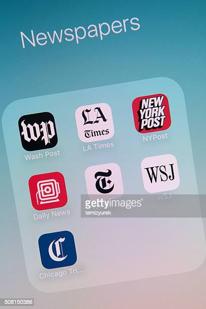 Newspapers Apps on Apple iPhone 6s Plus Screen