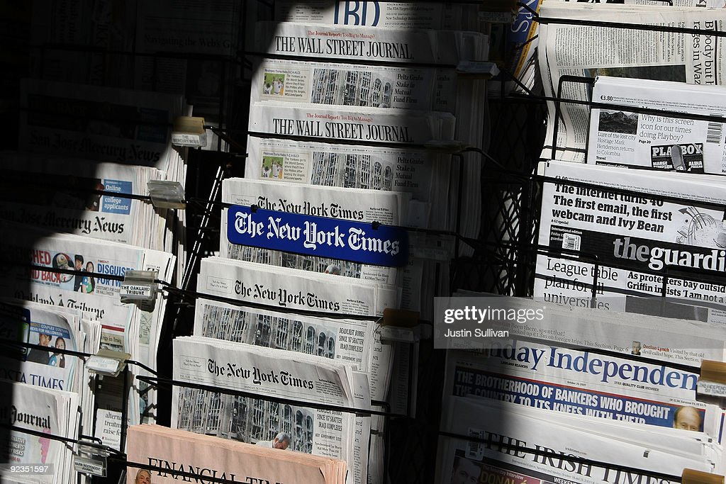 Newspapers are displayed at a newsstand October 26, 2009 in San Francisco, California. A report by the Audit Bureau of Circulations reveals that the average daily circulation of U.S. newspapers fell 10.6 percent in the six month period between April-September compared to one year ago. The San Francisco Chronicle had the largest decline with a drop of 25.8 percent to 251,782. The Wall Street Journal surpassed USA Today as the number one selling paper in the U.S. after USA Today had its circulation drop more than 17 percent to 1.90 million.