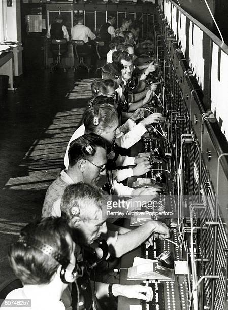 circa 1955 England The switchboard of the Daily Mail newspaper in London which can accommodate 22 operators