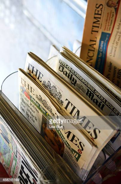 Newspapers in a Kiosk, London - England