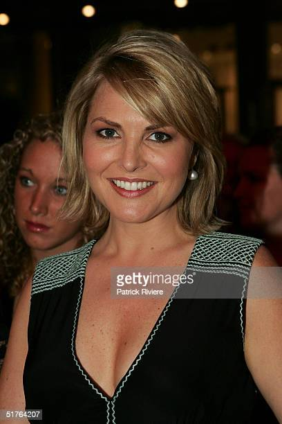 TV newsreader Georgie Gardner attends the world premiere of the staged production of 'Dirty Dancing' at the Royal Theatre November 18 2004 in Sydney...