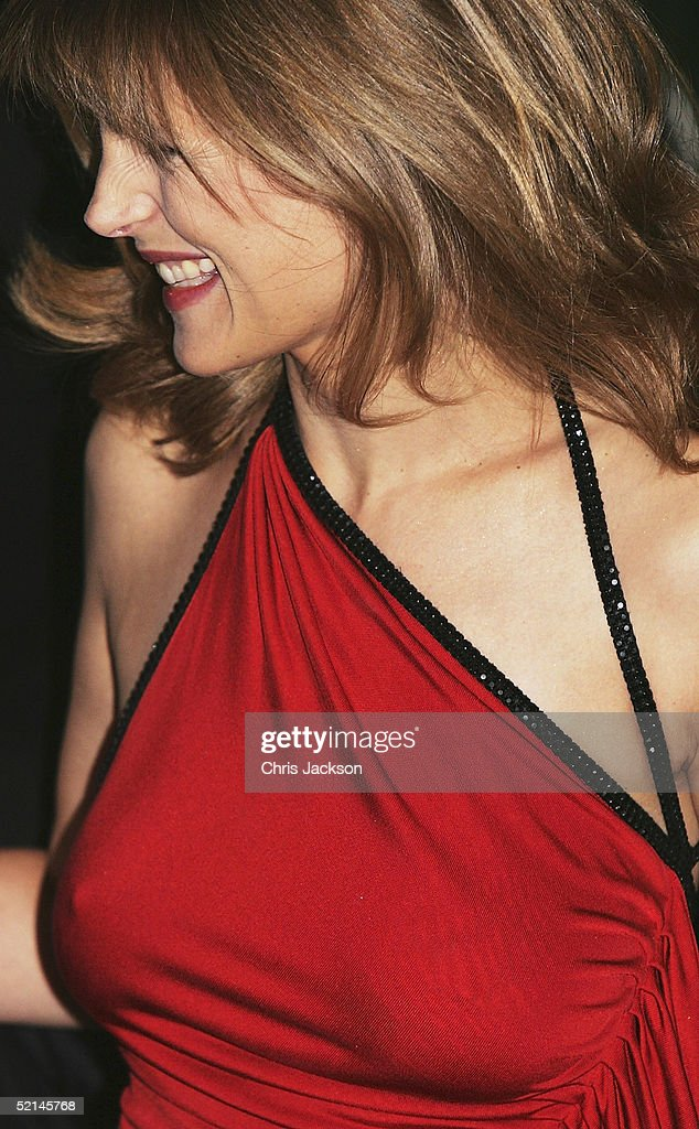 Newsreader Katie Derham arrives at the annual 'Evening Standard Film Awards 2005' at The Savoy on February 6, 2005 in London, England.