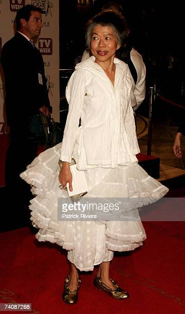 SBS newsreader Lee Lin Chin arrives at the 2007 TV Week Logie Awards at the Crown Casino on May 6 2007 in Melbourne Australia The annual television...