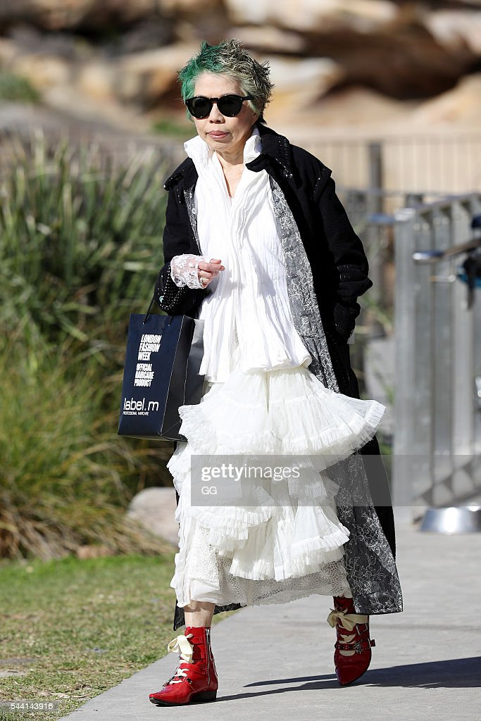 SBS newsreader, Lee Lin Chin is seen at Bondi on June 30, 2016 in Sydney, Australia.