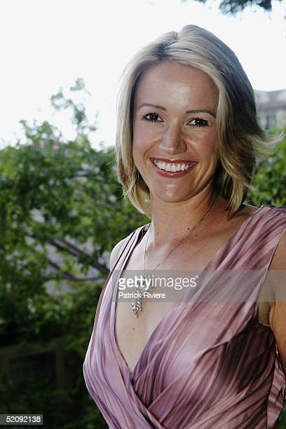 TV newsreader Leila McKinnon attends the launch of the new fragrance 'Armani Mania Femme' at a private house February 1 2005 in Sydney Australia