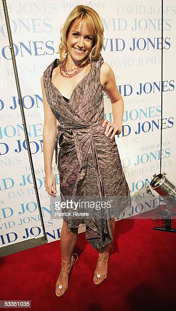 TV newsreader Leila McKinnon attends with fashion designer Jaydon Brunsdon the fashion parade for David Jones Summer 2005 Collection Launch at the W...