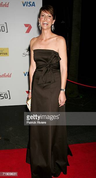 TV newsreader Natalie Barr attends Channel Seven's TV Turns 50 The Event That Stopped a Nation at Star City on September 17 2006 in Sydney Australia