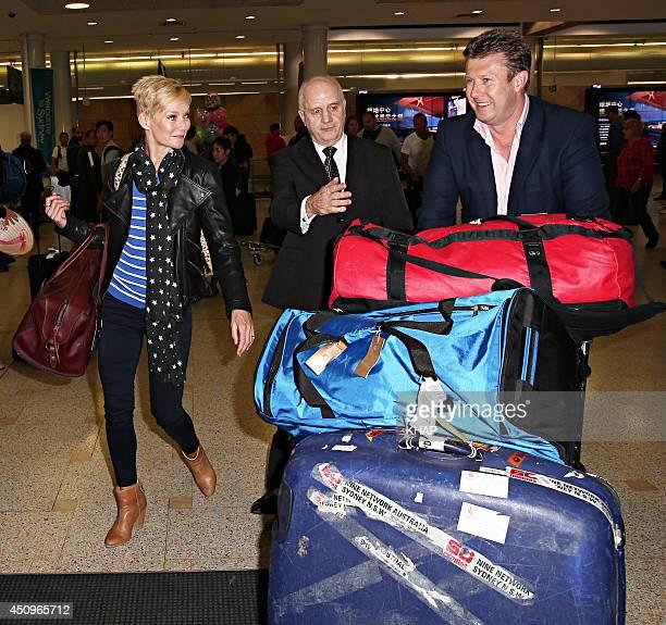 TV newsreaders Jessica Rowe and Peter Overton sighting on June 20 2014 in Sydney Australia