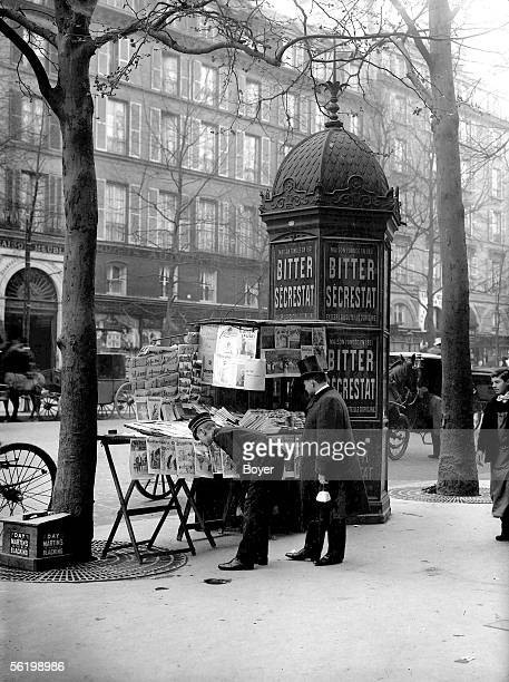 Newsstand near the SaintLazare station Paris 1899