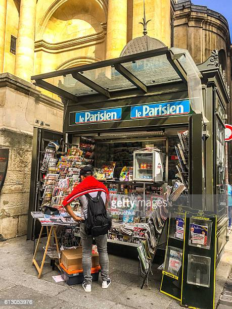 Newsstand on Paris street, France