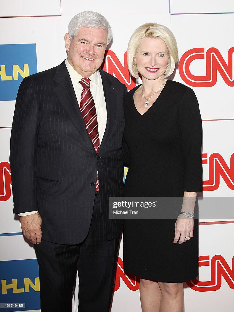 Newt Gingrich and Callista Gingrich arrive at the CNN Worldwide All-Star 2014 Winter TCA party held at Langham Huntington Hotel on January 10, 2014 in Pasadena, California.