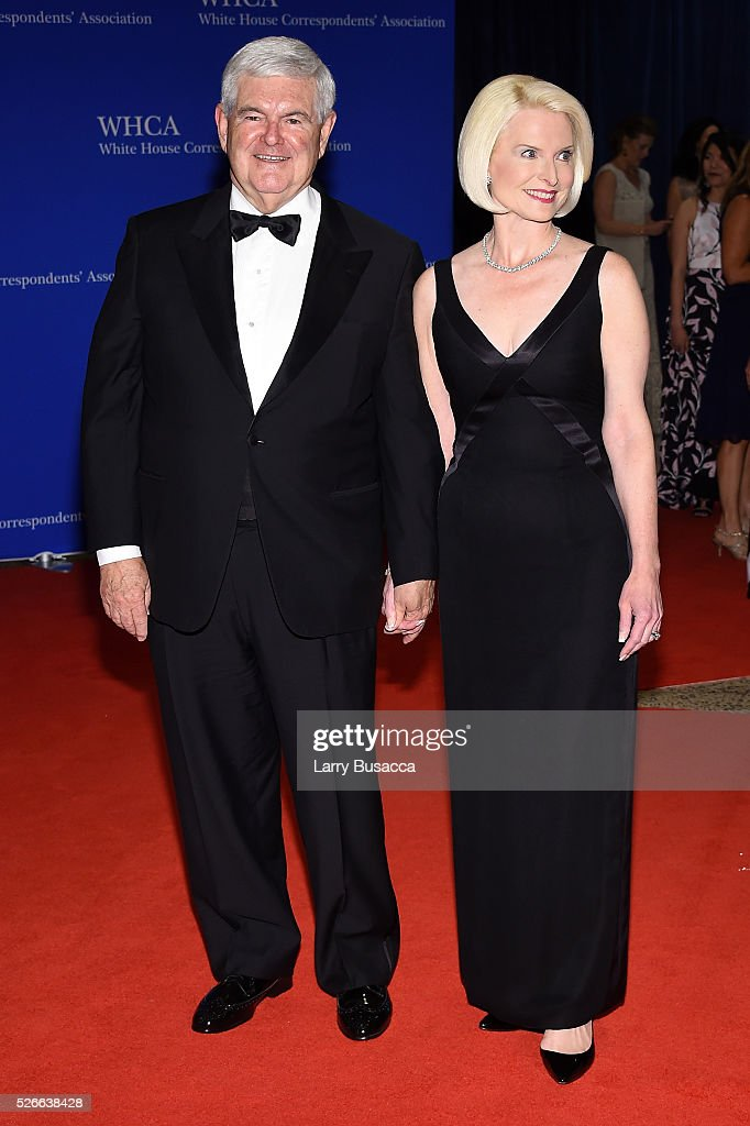 Newt Gingrich (L) and Callista Gingrich attend the 102nd White House Correspondents' Association Dinner on April 30, 2016 in Washington, DC.