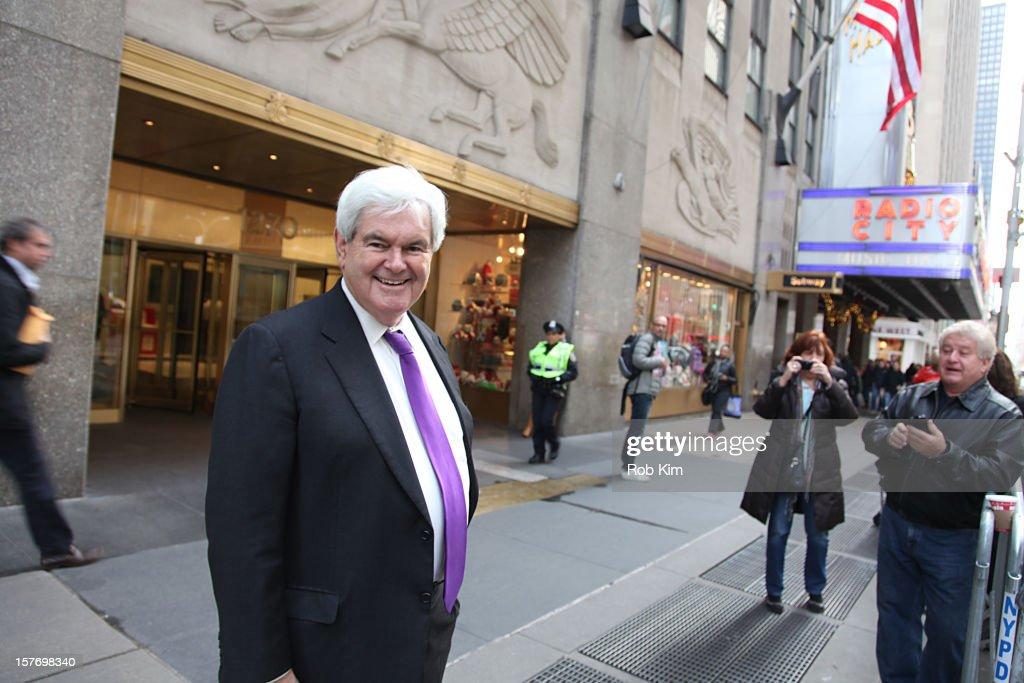 Newt Gingrich is seen at Rockefeller Center on December 5, 2012 in New York City.