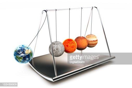 Newton balls concept : Stock Photo