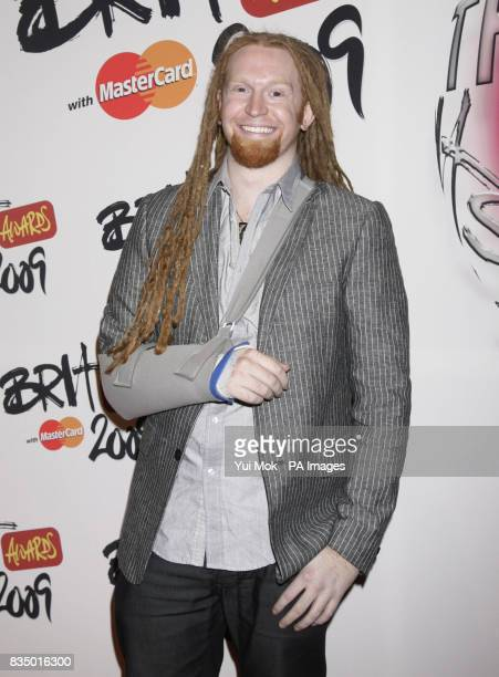 Newton Faulkner arriving for the Brit Awards shortlist announcement at the Roundhouse in London