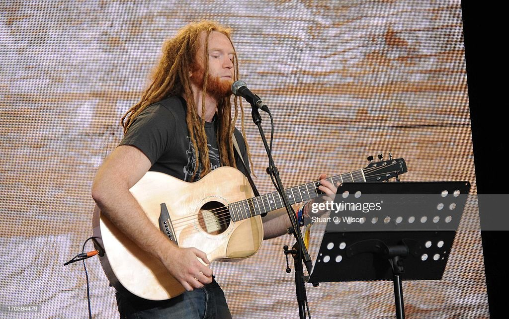 Newton Faulkner performing at agit8 at Tate Modern, ONE's campaign ahead of the G8 on June 12, 2013 in London, England.