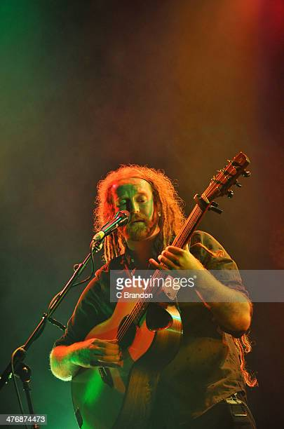 Newton Faulkner performs on stage at The Roundhouse on March 5 2014 in London United Kingdom