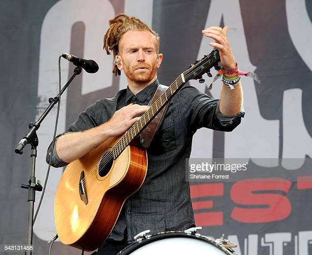 Newton Faulkner performs on The Other Stage at Glastonbury Festival 2016 at Worthy Farm Pilton on June 25 2016 in Glastonbury England