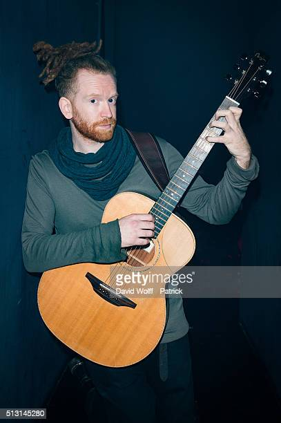 Newton Faulkner poses backstage at Les Etoiles on February 29 2016 in Paris France