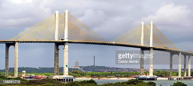 Newton Navarro Bridge, newest Natal City landmark : Stock Photo