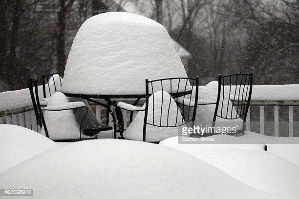 Newton patio is out of commission with snow and it seems like a long time until Boston area residents will be dining al fresco