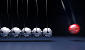 3D rendering of Newton's cradle pendulum