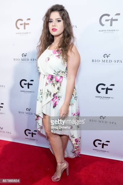 Nexar Recording Artist Sara Serena attends the Official Launch Party Of Dr Garth Fisher's BioMed Spa at Garth Fisher MD on August 22 2017 in Beverly...