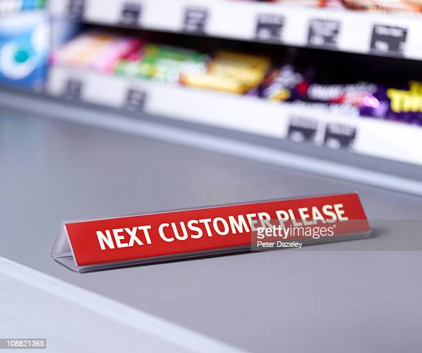 Next customer please sign on checkout