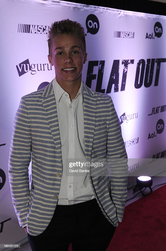 Next driver Dylan Kwasniewski at the screening of Flat Out on September 12, 2013 in Chicago, Illinois.