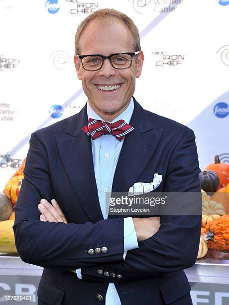 'Next Iron Chef' host Alton Brown attends the 'Next Iron Chef' interactive experience kickoff on the Streets of Manhattan on September 30 2011 in New...