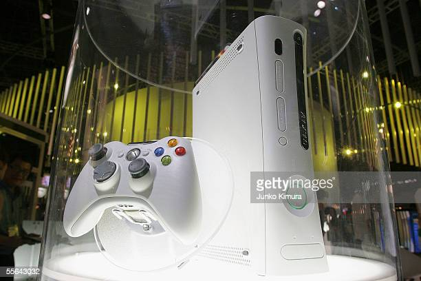 Nextgeneration Xbox 360 of Microsoft is on display during the Tokyo Game Show 2005 on September 16 2005 in Chiba Japan The show which takes place...